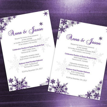 Diy Printable Wedding Invitation Card Template Editable Ms Word File 5 X 7