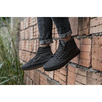 2ad0d6fd00da06 VANS Sk8-Hi High Top Men Flats Shoes Canvas Sneakers Women Sport