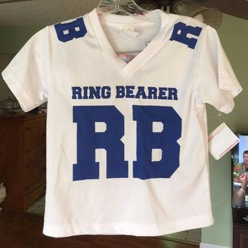 DAVID'S BRIDAL RING BEARER SPORTS JERSEY, SIZE MEDIUM, New with Tags