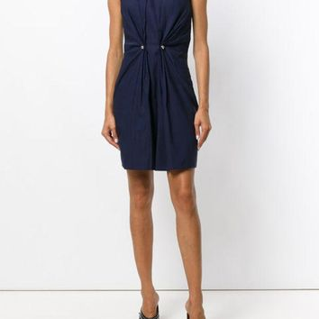 ONETOW Carven Front Gather Detail Sheath Dress - Farfetch