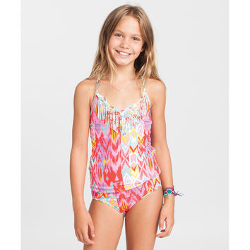 Billabong Girls' Radiant Heartbeats Tankini Multi