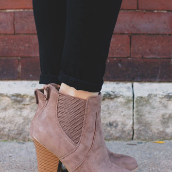 Never Wrong Booties - Taupe