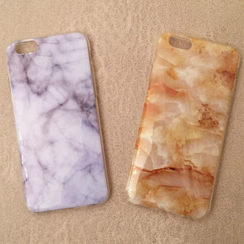 Orange Marble Case Cover for iphone 5s 6 6s Plus Gift 187