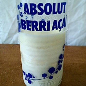 Absolut Vodka Bottle repurposed soy candle- Acai Berry design- Limited Edition