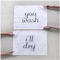 Tea(m) Towels - set of 2 extra large tea towels - eco-friendly wedding gift / housewarming gift - kitchen towels