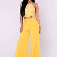 Wild Thoughts Lace Set - Mustard
