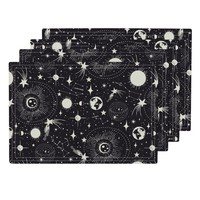 Solar System - Black on Lamona by heatherdutton | Roostery Home Decor