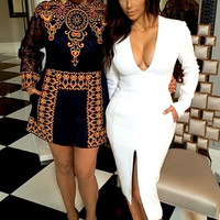 White Pencil Dress (Kim Kardashian Inspired)
