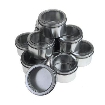 Round Metal Tin Gift Boxes, 3-Inch x 1-3/4-Inch, 12-Piece