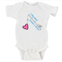 I Hooked Daddy's Heart | Father's Day Gerber Onesuit ®