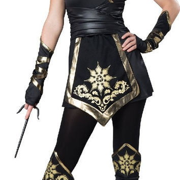 female ninja elite - adult costume - large