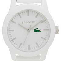 Men's Lacoste Round Silicone Strap Watch, 43mm