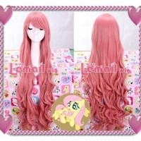 "HealthTop 40"" Vocaloid Megurine Luka Curly Cosplay Wig (Pink)"