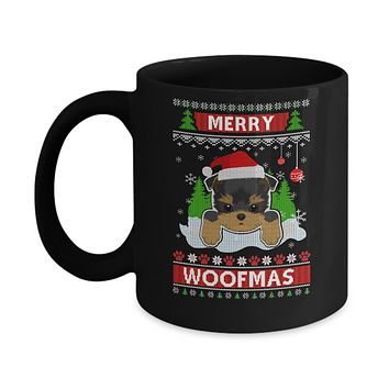 Yorkie Merry Woofmas Ugly Christmas Sweater Mug