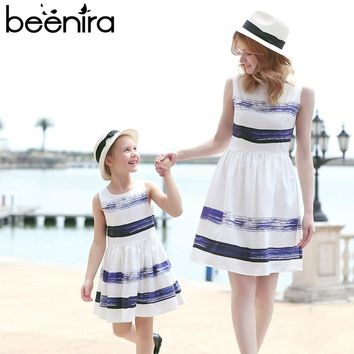 Family Matching Outfits Mother Or Daughter Dress Sleeveless