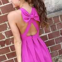 Magenta Bow Dress | The Rage