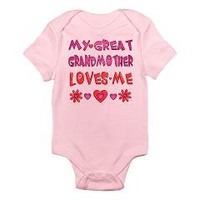 "Baby Girl ""Great Grandmother"" Infant Bodysuit> Gifts for Girls from Great Grandma> Only Originals"