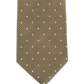 Tom Ford Mens Green Pure Silk Diagonal Dot 4 Inch Wide Tie