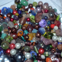 Large Bag of Bead Soup Mostly Glass Beads