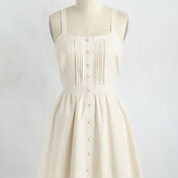 Hugs and Quiches Dress in Parchment
