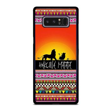 HAKUNA MATATA LION KING SUNSET AZTEC Samsung Galaxy Note 8 Case Cover