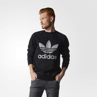 adidas French Terry Denim Crew Sweatshirt - Blue | adidas US