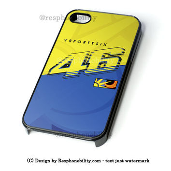 Valentino Rossi Vr46 Movistar Yamaha Motogp iPhone 4 4S 5 5S 5C 6 6 Plus Case , iPod 4 5 Case  , Samsung Galaxy S3 S4 S5 Note 3 Note 4 Case , and HTC One X M7 M8 Case