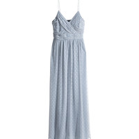H&M - Long Dress - Blue-gray - Ladies