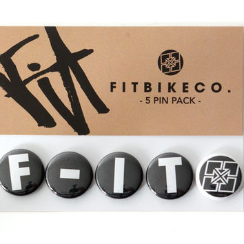 Fit BMX Buttons 5 Pack