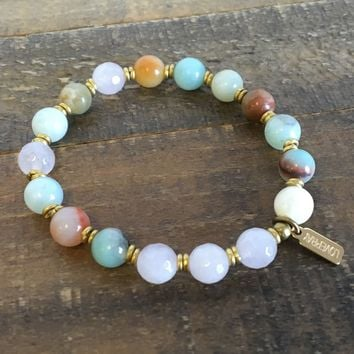 "Amazonite and Rose Quartz ""Positivity and Healing"" Bracelet"