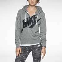 Nike Rally Signal Full-Zip Women's Hoodie - Dark Grey Heather