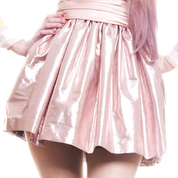 Metallic Pink Cupcake Tutu Princess INDIE QUEEN Mini Skirt