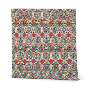 Sharon Turner Holly Wrapping Paper