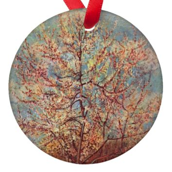 Vicent Van Gogh Trees Porcelain Ornaments