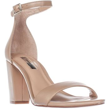 I35 Kivah Ankle Strap Dress Sandals, Dark Almond, 8.5 US
