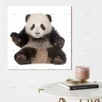 Panda wall art painting canvas picture panda Animal Art picture Canvas Painting Prints Home Decoration print for baby room