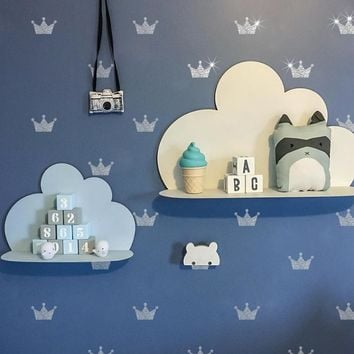 Nordic children's custom crown pattern wall sticker for children's room decoration vinyl can be removed kid's bedroom decorate
