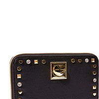 VA VA STUDS ZIP AROUND WALLET