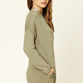 Oversized Heathered Sweatshirt