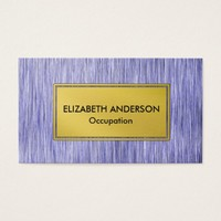 Contemporary Blue Faux Digital Scratched Metal Business Card