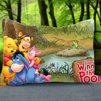 "Disney Winnie The Pooh And Eeyore Baby Custom Pillow Case 30"" x 20"""
