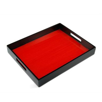 Red Tulipwood Inlay with Black Lacquer Breakfast Tray