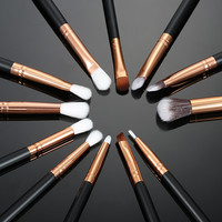 Set Foundation Powder Eyeshadow Eyeliner Lip Brush Set