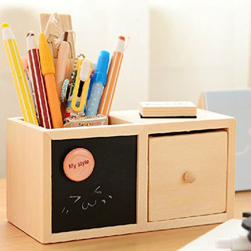 Luxury Artwork Collection Pen Organizer Desk Sorter Room Dec DIY Blackbord