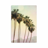 "Sylvia Coomes ""Palm Trees"" Coastal Photography Aluminum Artistic Magnet"