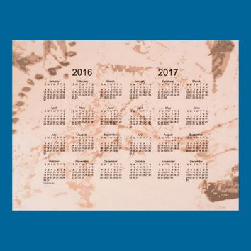Old Peach Paint 2 Year 2016-2017 Wall Calendar Poster from Zazzle.com