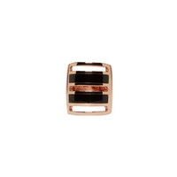 Pamela Love Rose Gold And Onyx Inlay Path Ring