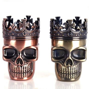 Mini Crown King Skull Shape Pipe Tobacco Herb Grinder Spice Tobacco Grinder  Muller Crusher Weed Grinder Tool Smoking  Accessory
