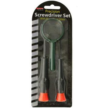 Precision Screwdriver Set with Magnifying Glass ( Case of 32 )