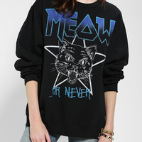 Meow Or Never Pullover Sweatshirt - Urban Outfitters